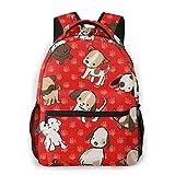 Puppy BabyBackpack Mutifunctional School Bag Large Capacity Laptop Computer Bag Casual Bag For Women And Men