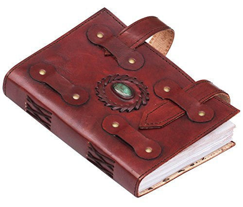Parent's Day Gifts SALE – 200 Pages Large Pure Leather Journal with Stone Embossed Brown Notebook / Sketchbook / Scrapbook / Travel Diary – Handmade A…