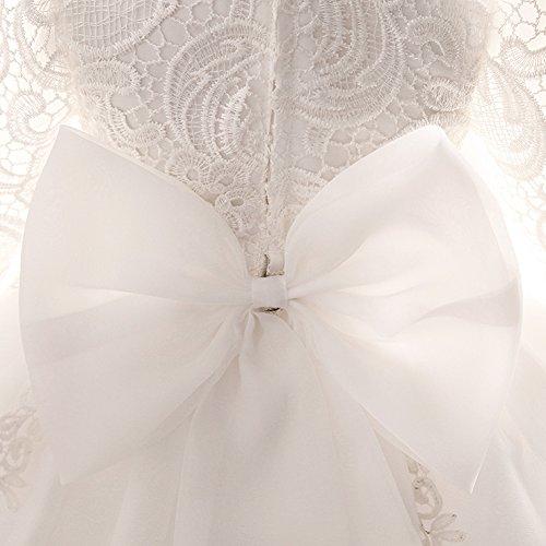 Myosotis510 Girls' Lace Princess Wedding Baptism Dress Long Sleeve Formal Party Wear for Toddler Baby Girl by Myosotis510 (Image #4)