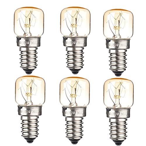 Oven E14 Bulb (Appliance Oven Refrigerator Bulbs .Appliance light bulb High Temp.110V—130V 15W Oven Light Bulb Heat Resistant Bulb E14 Medium Base.Night Light.Oven Light Bulbs.Oven Refrigerator Bulbs(6 pack))