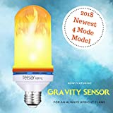 LED Flickering Fire Effect Light Bulb by TeeJay Home, 3 Mode plus Gravity Sensor Always Upright Flame, E26 Standard Base, 6W 108pcs For Sale