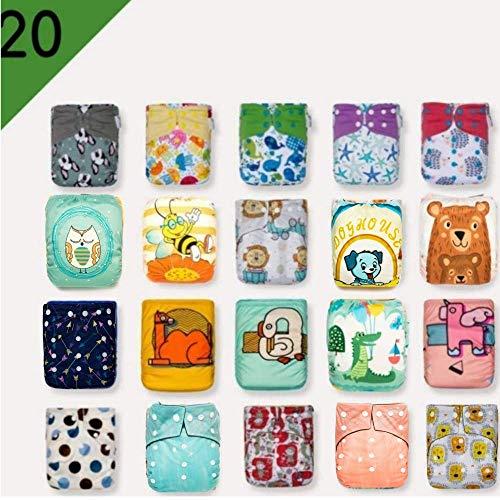 Kawaii Baby 20 Printed Snap One Size Pocket Cloth Diaper Shells Assorted Colors 8-36 lb