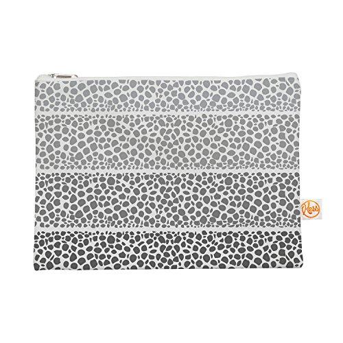 Kess eigene 12,5x 21,6cm Pom Graphic Design Riverside Pebbles Alles-Tasche, Grau/Weiß
