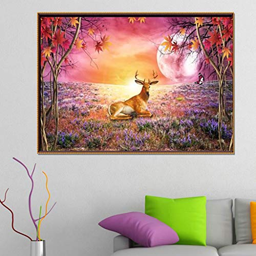 - Allywit New 5D Reindeer Embroidery Paintings Rhinestone Pasted DIY Diamond Painting Cross Home Decor Best Gift