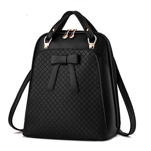 Qihuokeju Ladies Backpack Shoulder Bag Women Bag School Pu Backpack