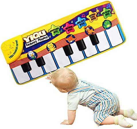 YZXD Musical Mat, Baby Early Education Music Piano Carpet Touch Play Keyboard Mat for Baby Toddler Funny Play Blanket Dance Mat Musical Instrument Toy Great Baby Toy Gift for Birthday Christmas
