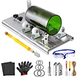 Glass Bottle Cutter Kit, Bottle Cutter DIY Machine with Size Marking for Cutting Wine Beer Liquor Whiskey Alcohol Champagne Round Oval Bottle Mason Jar, with Pencil Glass Cutter Kit Safety Glasses