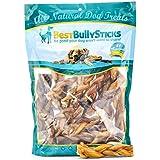 Best Bully Sticks All-Natural 4-5 Inch Braided Bully Sticks (1 Pound)