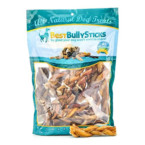 Best Bully Sticks All-Natural 4-5 Inch Braided Bully Sticks (1 Pound)