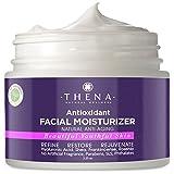 Natural Facial Moisturizer For Dry & Sensitive Skin Care With Hyaluronic Acid Rosehip Frankincense Oils, Best Organic Anti-Aging Night Face Cream Moisturizing Lotion Mature Damaged Skin Men & Women