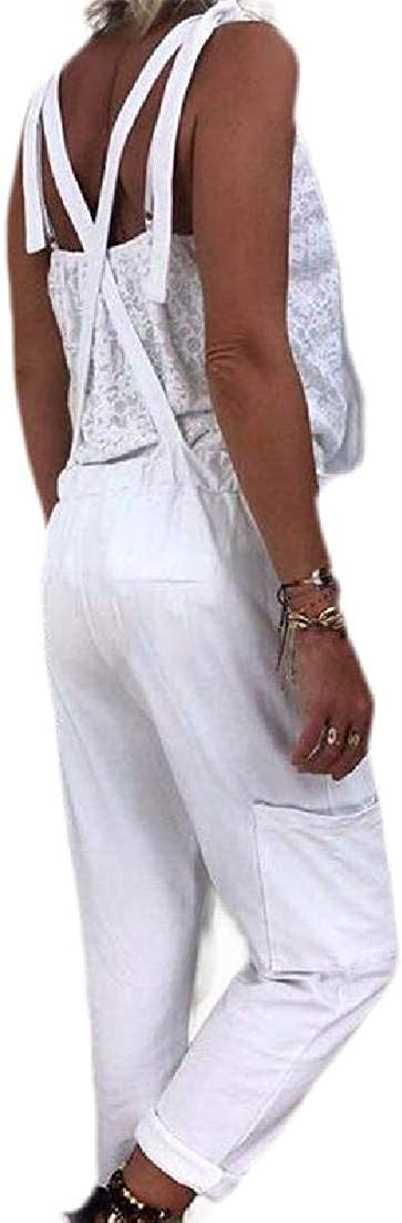 Fubotevic Womens Casual Loose Pants Plus Size Overalls Rompers Jumpsuit