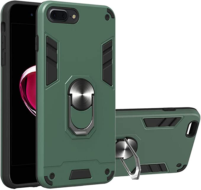 Case 2020 iPhone 8 Case Wiitop Compatible with iPhone SE iPhone 7 Cover Military Grade Phone Case with 360 Degree Rotating Holder Kickstand Support Magnetic Car Mount Rose Gold