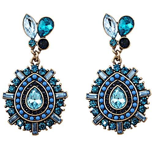 GoodShoop Brand Elegant Blue Water Drop Earrings Vintage Earings Ethnic Jewelry