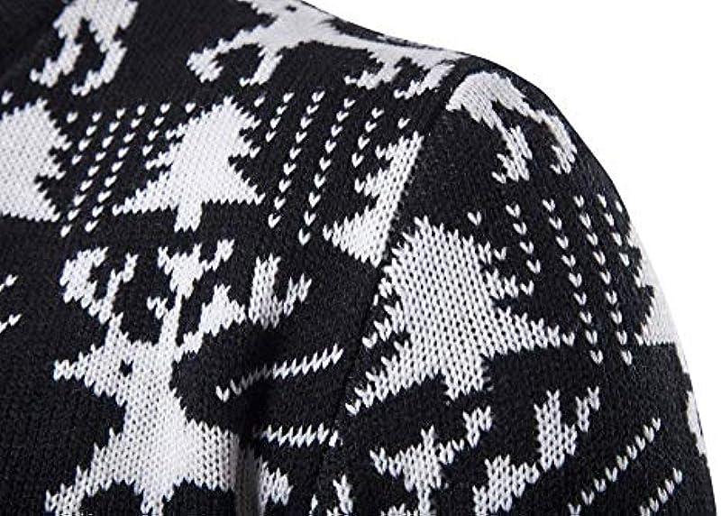 Slim Fit męski sweter dziergany jeleń wzÓr wiosna Boże Narodzenie sweter moda męska jesień długi rękaw okrągły dekolt renifer sweter z dzianiny: Odzież