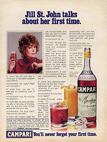 Jill St John yalks about her first time Campari Aperitif ad 1983 L