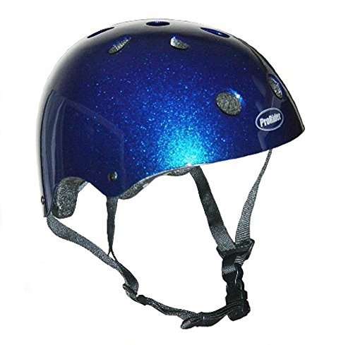 Pro-Rider Classic Bike & Skate Helmet (Blue, (Multi Sport Womens Bicycle Helmet)