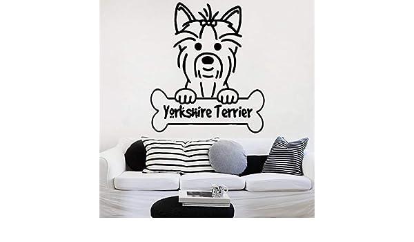 NOVELOVE Yorkshire Terrier DIY Puppy Mural Pet Shop SPA Aseo Salón ...