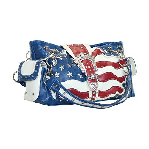 Blue American Flag Concealed Carry Gun Pocket Bag
