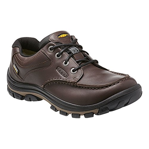 KEEN Men's Anchor Park Low WP Casual Shoe, Brown Full Gra...