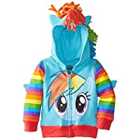 FREEZE sudadera con capucha My Little Pony Rainbow Dash de Big Girls, Azul /Múltiple, 16 /X-Large