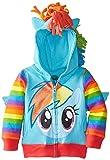 My Little Pony Girls Rainbow Dash Hoodie Toddler, Blue Multi, 4T