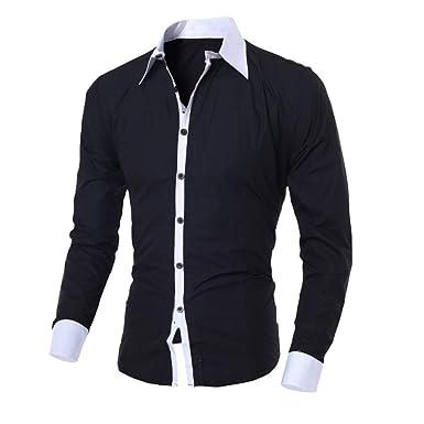SXZG Camisa de diseño para Hombre Camisa Casual de Manga Larga con ...