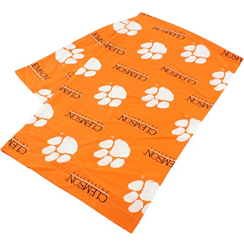 """College Covers Clemson Tigers Pillowcase Only - Body Pillow, 20"""" x 60"""", Orange"""