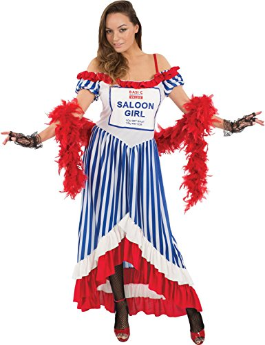 Ladies Cheap Budget Value Basic Saloon Girl Halloween Costume Medium