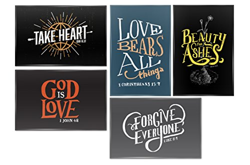 Metal Bible Verse Magnets (set of 5) by A Life Of Faith