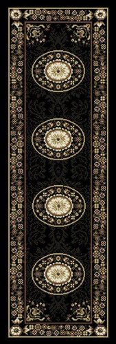 Home Dynamix Optimum 11023-450 Polypropylene 1-Feet 9-Inch by 7-Feet 2-Inch Area Rug, Black