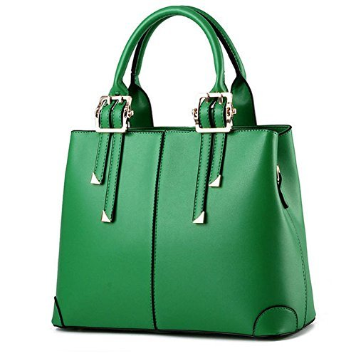 Green Leather Handbag - 8