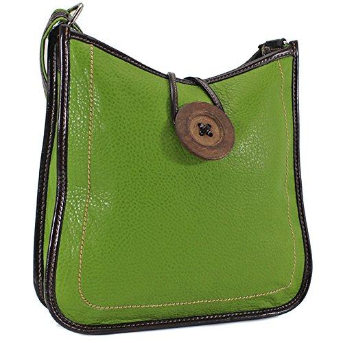 con tracolla Tote a donna In mano verde a pelle a spalla finta tracolla da da donna e FUIRw