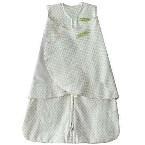 HALO SleepSack 100% Cotton Swaddle, Sage Pin Dot, Newborn ()