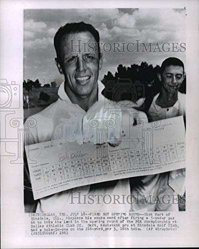 1963 Press Photo Golfer Dick Hart Takes the First Round in Golfing Tournament - Historic Images