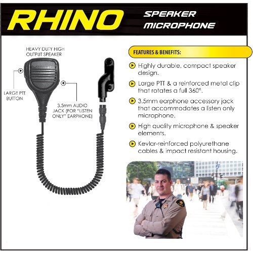 Earphone Connection RHINO Quick Release Shoulder Mic for Vertex VX Radios (See List) by Tactical Ear Gadgets