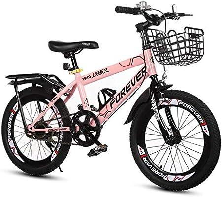 SGMYMX Bicicleta para niños Bicicleta for niños niña Bicicleta Rosa 7-8-9-10-11-12 años niño Grande con estabilizadores y Canasta Bicicleta de los niños (Color : Pink, Size : A): Amazon.es: Hogar