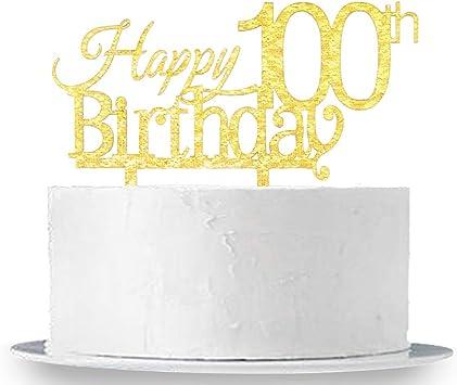 Amazon.com: innoru 100º cumpleaños decoración para tarta ...