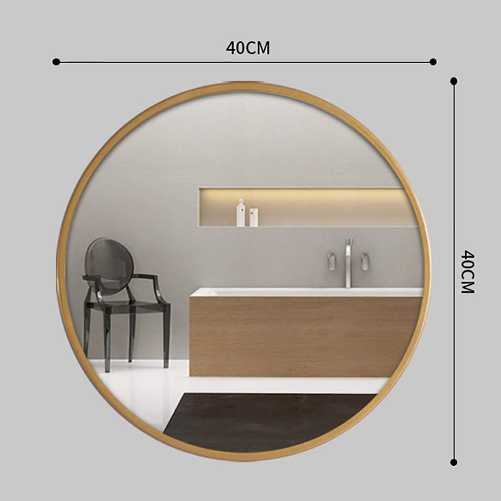 Espejo de Baño Espejo Maquillaje Espejo de tocador Espejo de baño de pared nórdico, espejo redondo de hierro, espejo de maquillaje, espejo de aumento, espejo de afeitar, espejo colgante de decoración: Amazon.es: