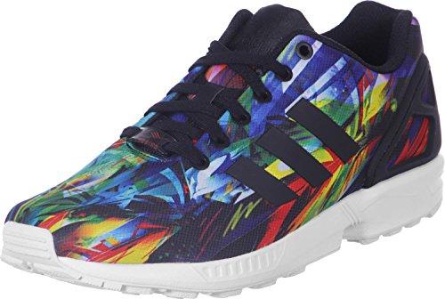 Les Hommes Adidas Zx Flux Baskets Multicolores (blanc Rouge Noir / Jaune)