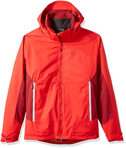 Jack Wolfskin Men's North Border Jacket, Ruby Red, 3X-Large by Jack Wolfskin