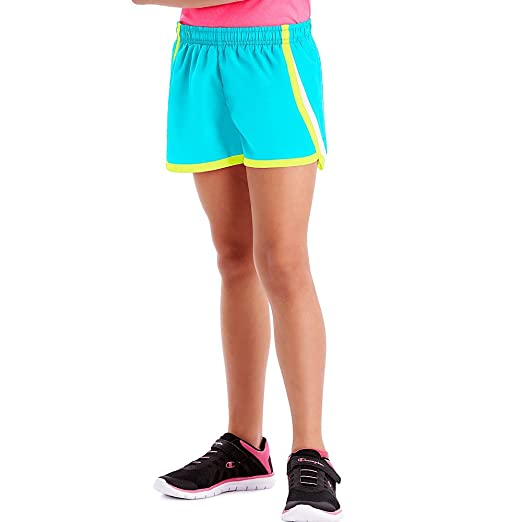 a2e63a18ae01f Hanes Girls Sport Woven Performance Training Shorts, XS, Cool Me Blue