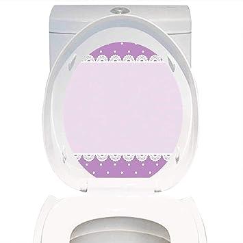 Amazoncom Qianhe Home Bathroom Toilet Seat Sticker Decal Mauve
