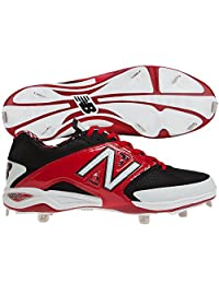 New Balance Men's L4040br2 Baseball Cleats, Black,12.5 M US