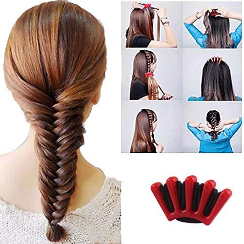 DELOVE- Hair Styling Set, Fashion Hair Design Styling Tools Accessories DIY Hair Accessories Hair Modelling Tool Kit Hairdress Kit Set Magic Simple Fast Spiral Hair Braid Hair by DELOVE (Image #1)