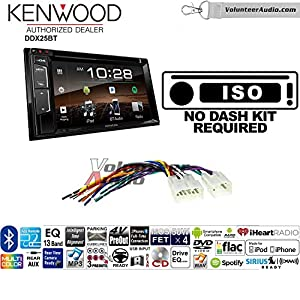 Volunteer Audio Kenwood DDX25BT Double Din Radio Install Kit with Bluetooth CD DVD Player Fits Non Amplified 1987-2009 Toyota 4Runner, 1987-2015 Camry