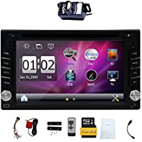Upgarde Version With Camera ! 6.2 Double 2 DIN Car DVD CD Video Player Bluetooth GPS Navigation Digital Touch Screen Car Stereo Radio Car PC 800MHZ CPU !!!