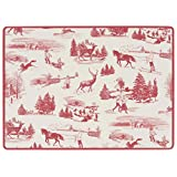 Now Designs Cork Backed Placemats, Set of Four, Holiday Toile Print