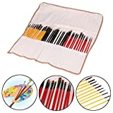 36Pcs Artists Paint Brushes Art Set For Acrylic Oil Watercolor Professional