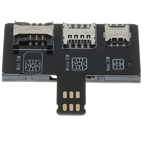 B Blesiya Adaptador de Tarjeta SIM Micro/Normal Compatible ...