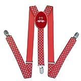 Carroly Flamingo Love Suspenders for Kids Adjustable Elastic Children's Wave dot Suspenders